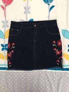 Denim Skirt (XL) (Only wear 1 time)