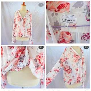 baju motif flower cotton on