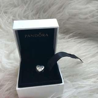 Pandora Charm I Love You 100% Original