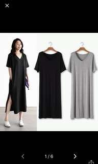 Black Maxi Slit Dress