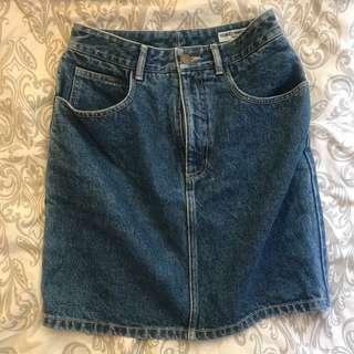 Guess High Waisted Denim Skirt