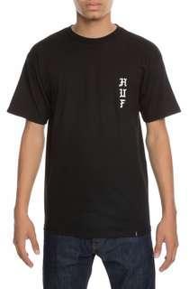 全新HUF The Peppers Tee Size S 黑色 black T-Shirt