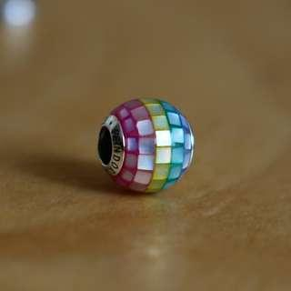AUTHENTIC Pandora Multi-Colour Mosaic Charm [Sterling Silver 925 ALE With Mother Of Pearl]
