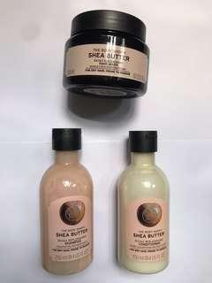 Body Shop  乳木果深層修復護髮系列 一套三件 全新
