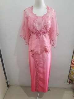 Gaun Dress Pesta Pink