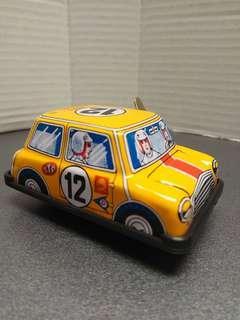 Mini Cooper鐵皮車 tin toy made in Japan