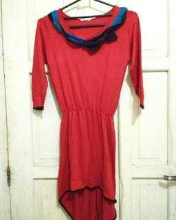 Atasan Merah Bahan Kaos