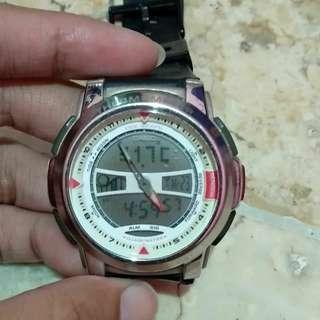 Casio dual time chronograph