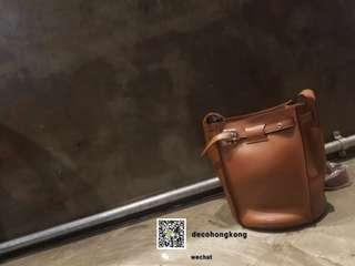 (New) Celine Tan Big Bag Bucket With Long Strap