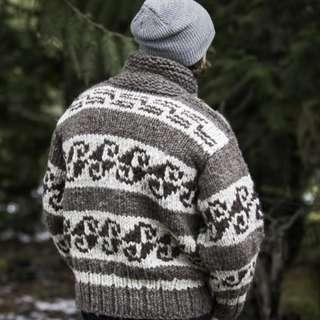 Cowichan Zipper Knit Sweater
