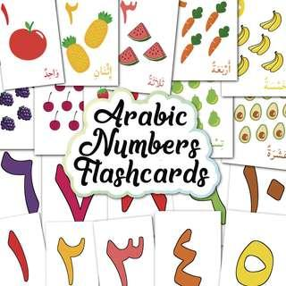 🚚 Arabic Numbers Flashcards 1-10