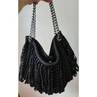 Studded Suede Hobo Bag