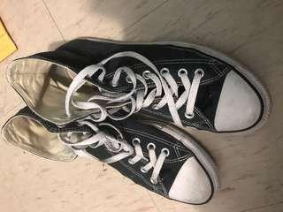 Size 9 black high top converse chuck Taylor 1