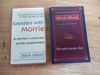 🚚 1) Tuesdays with Morrie. 2) For One More Day