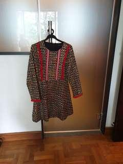 Tweed dress for autumn