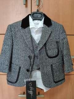 Boy's formal suit with vest, jacket and pants