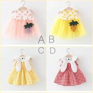Combo 4 pieces for rm99 Baby Girls dress 0-2 years