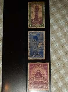 Stamps India (1949 - 1957) 13 stamps