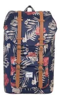 Herschel Little America  Backpack Bag peacoat flora