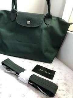 Longchamp Le Pliage Neo Dark Green