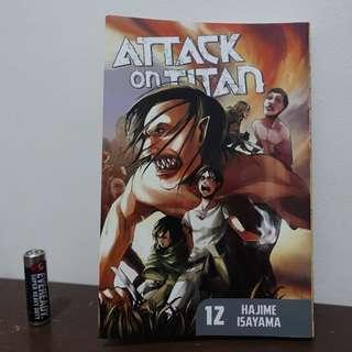 50% OFF Attack on Titan English Manga volume 12,14,15,16,18