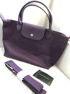 Longchamp Le Pliage Neo Bilberry