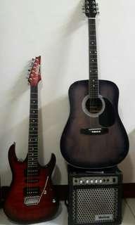 Electric guitar & acoustic