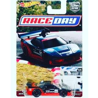 Hotwheels 2017 Race Day Series Acura NSX Rare Hot Wheels