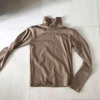 Ulzzang Khaki Brown Turtleneck