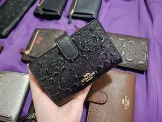 ✔️Clearance Sale✔️Coach Medium Wallet Embossed Black - 100% Authentic