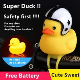 Bike Bell & LED light - Super duck , multiple use , durable and sweet, make your travel more fun.