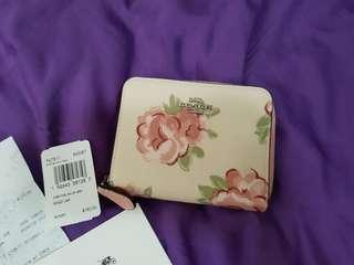NEW STOCK - COACH SMALL ZIP AROUND WALLET 100% AUTHENTIC