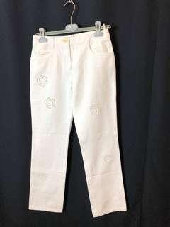 🚚 香奈兒經典白長褲