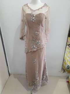 Gaun Dress Pesta Mocca