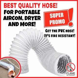 🔥PVC hose for portable aircon, dryer, kitchen hood and more! Hose/vent/pipe/duct/ducting