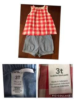 Take all baju anak perempuan carters H&M authentic 3y