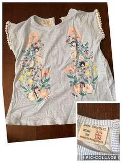 Take all baju anak perempuan zara baby next H&M authentic 3-4