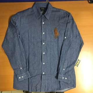 Polo - Kemeja Jeans Panjang - Custom Fit - size 16/33