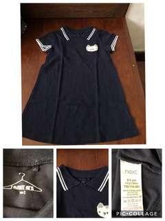 Dress anak perempuan next baby sz 2-3y