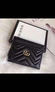 gucci faux leather cardholder