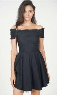 Flare Dress in Midnight