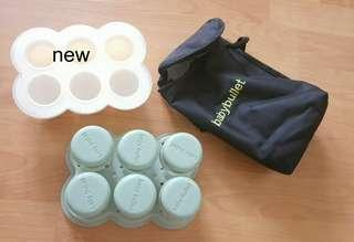 (FREE POSTAGE) New&preloved Baby Bullet puree containers