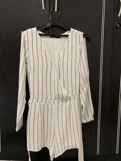 Something Borrowed Stripes Jumpsuit