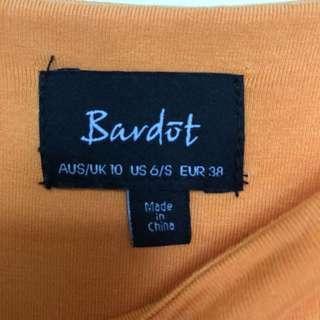 Bardot orange maxi dress