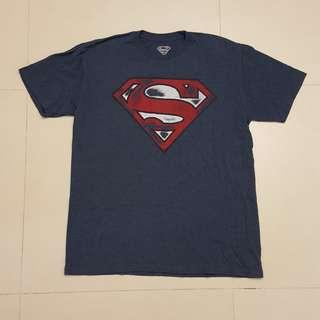 DC COMICS Graffiti SUPERMAN LOGO T-Shirt (pre-owned)