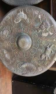 Antique Chinese brass gong from Sarawak