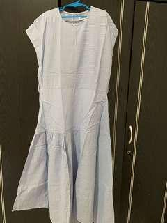 Srtipes Blue Midi Dress
