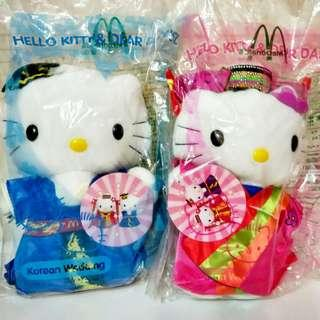 4 pairs McDonals Hello Kitty Pair Dolls (total 4 pair)