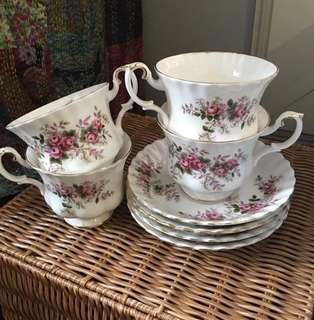 Tea cups - 4 pairs