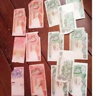 Malaysia old noted money